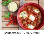 moroccan tagine of lamb with... | Shutterstock . vector #270777980