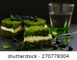 beautiful green cake with... | Shutterstock . vector #270778304