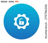 unlock settings. icon. vector... | Shutterstock .eps vector #270786206