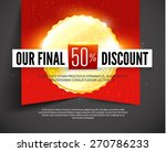 final discount label on red... | Shutterstock .eps vector #270786233