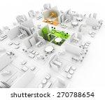 exhibition kiosk. copy space... | Shutterstock . vector #270788654