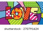 Love. Typo. Modern Pop Art...
