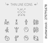 business thin line icon set for ... | Shutterstock .eps vector #270791678