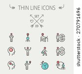 business thin line icon set for ... | Shutterstock .eps vector #270791696