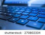 black illuminated laptop... | Shutterstock . vector #270802334