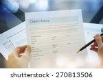 credit report concept | Shutterstock . vector #270813506