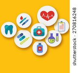 illustration set medical icons... | Shutterstock . vector #270816248