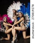 three beautiful women in...   Shutterstock . vector #270819278