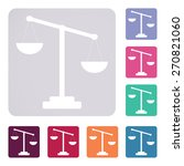 scales icon | Shutterstock .eps vector #270821060