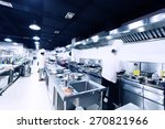 modern hotel kitchen and busy... | Shutterstock . vector #270821966