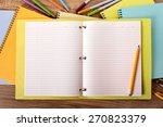 open writing book on student... | Shutterstock . vector #270823379