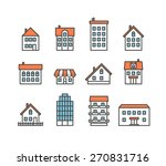 different house silhouettes... | Shutterstock .eps vector #270831716