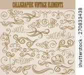 set of decorative hand drawn... | Shutterstock .eps vector #270833438