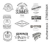 summer holiday party festival ... | Shutterstock .eps vector #270835664