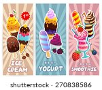vector retro style ice cream ... | Shutterstock .eps vector #270838586