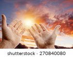 hands reaching for the sky | Shutterstock . vector #270840080