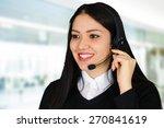 young brunette businesswoman... | Shutterstock . vector #270841619