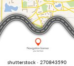abstract  gps navigation vector ... | Shutterstock .eps vector #270843590