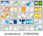 set of flyers layout template... | Shutterstock .eps vector #270843596