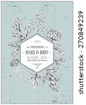classic floral vintage wedding... | Shutterstock .eps vector #270849239