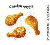 chicken leg   Shutterstock .eps vector #270851663