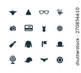 set of accessories icons on... | Shutterstock . vector #270856610
