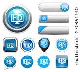 hd button | Shutterstock .eps vector #270861140