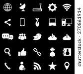 network icons on black... | Shutterstock .eps vector #270861914