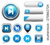media player button | Shutterstock .eps vector #270862724