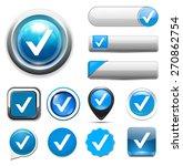 confirm icon   check mark button | Shutterstock .eps vector #270862754