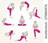 big set of yoga and pilates... | Shutterstock .eps vector #270864476