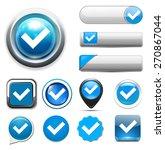 check mark button | Shutterstock .eps vector #270867044