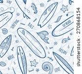 light blue doodle surfing...   Shutterstock .eps vector #270868154