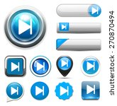 media player button | Shutterstock .eps vector #270870494