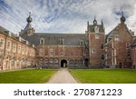 Courtyard of Castle Arenberg, now university of Leuven in Belgium