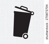 trash bin icon  | Shutterstock .eps vector #270873704