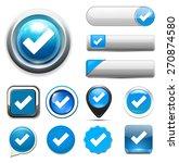 check mark button icon | Shutterstock .eps vector #270874580