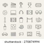 cinema  movie line icons set ... | Shutterstock .eps vector #270874994