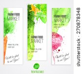 vector set of banners with...   Shutterstock .eps vector #270878348