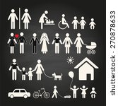 set of family icons and signs... | Shutterstock .eps vector #270878633