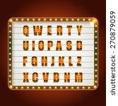 glowing festive letters... | Shutterstock .eps vector #270879059