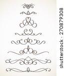 ornamental calligraphic line... | Shutterstock .eps vector #270879308