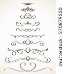 ornamental calligraphic line... | Shutterstock .eps vector #270879320