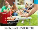 close up of men in blue t shirt ... | Shutterstock . vector #270885710