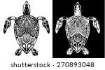 vector line drawing of... | Shutterstock .eps vector #270893048
