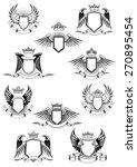 heraldic coat of arms templates ... | Shutterstock .eps vector #270895454
