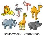 Chute Cartoon African Wild...