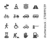 traffic icon set  vector eps10. | Shutterstock .eps vector #270899159