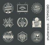 happy teachers  day design... | Shutterstock .eps vector #270900380
