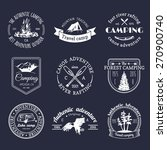 vector set of vintage camping... | Shutterstock .eps vector #270900740